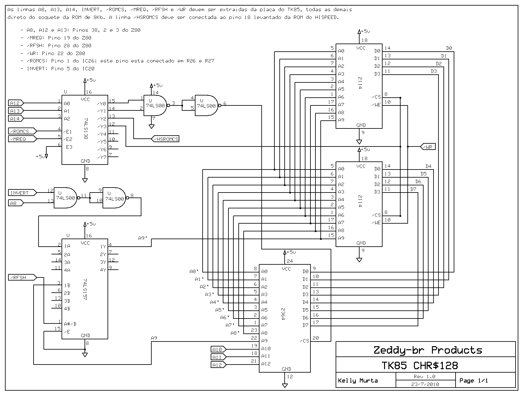 Chroma 81 Scart And Colour Interface For The Zx81 Sinclair Zx80 Circuit Diagram This Is An Implementation Of Chr128 Tk85